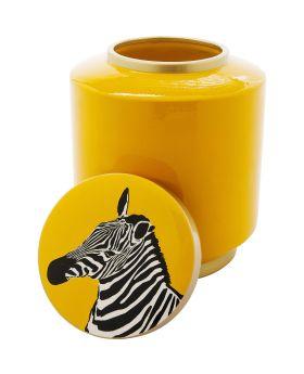 Deco Jar Zebra  25Cmyellow