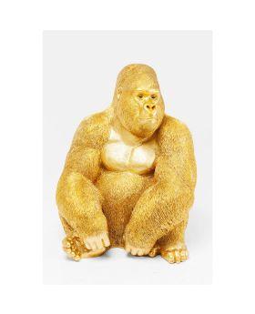 Deco Figur Monkey Gorillaside Xl Ggolden