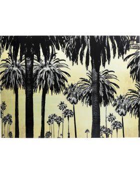 Gallery Glass Metallic Palms 120X180Cm