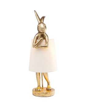 Table Lamp Animal Rabbit Gold (Excluding Bulb)