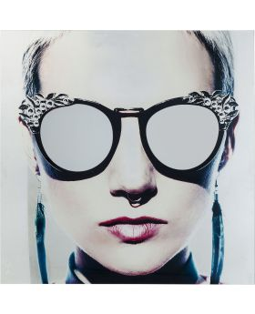 Picture Glass Metallic Girlie 120X120Cm