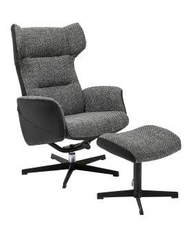 Swivel Chair + Stool Ohio Salt and Pepper