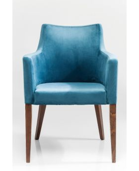 Chair With Armrest Mode Velvet Petrol