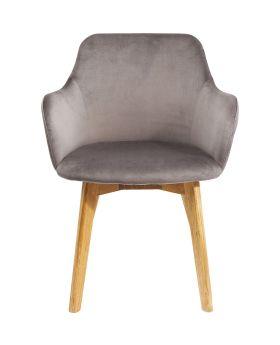 Chair With Armrest Lady Velvet