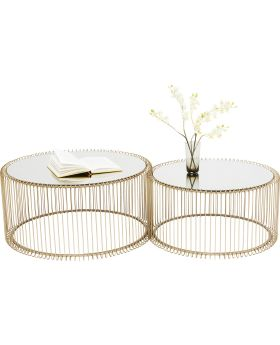 Coffee Table Wire Brass (2/Set)