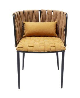 Cheerio Diningchair W/Arm&Cushion Yellow