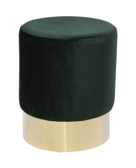 Stool Cherry Dark Green Brass O35Cm