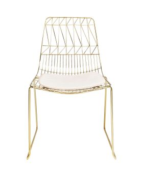 Dining Chair Solo Creme Gold,Fab