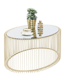 Coffee Table Wire Uno Brass 60X90Cm