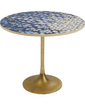 Fascino Dining Table Dia75Cm,Brass Leg