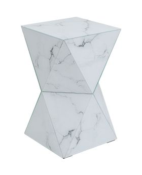 Side Table Luxury Triangle Marble,Grey