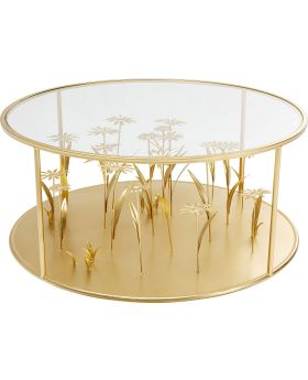 Coffee Table Flower Meadow Gold Dia80Cm