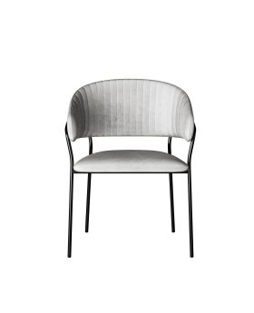 Dining Chair W/Armrest Belle Grey (2Set)