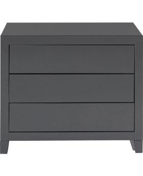 Dresser Luxury Push 3 Drawers Grey