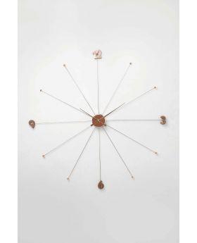 WALL CLOCK LIKE UMBRELLA ROSE GOLDCOPPER