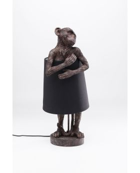 TABLE LAMP ANIMAL MONKEY BROWN