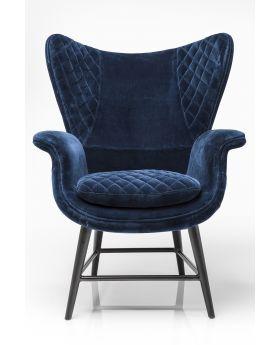 Arm chair Tudor VelvetBlue
