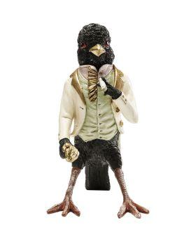 Deco Figurine Gentlemen Bird Black
