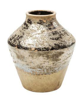 Vase Shimmery Gold Rose 21cm