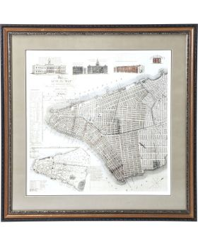 Picture Frame New York Map 110x110cm