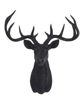 Deco Antler Deer Rubber Black