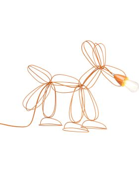 Table Lamp Dog Wire Orange