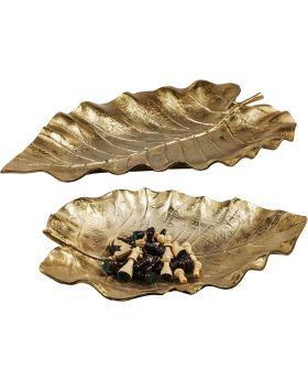 Deco Bowl Autumn Leaf  Gold (2/Set)