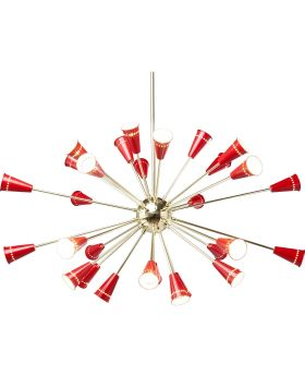 Pendant Lamp Atmosphere Gold-Red