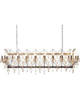 Pendant Lamp Chateau Crystal Rusty Del
