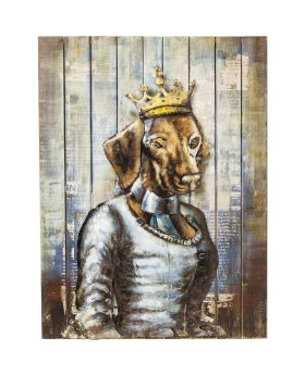 Picture Iron Queen Dog 100x75cm