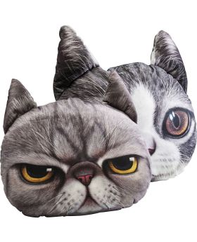 Cushion 3D Cat Face Assorted