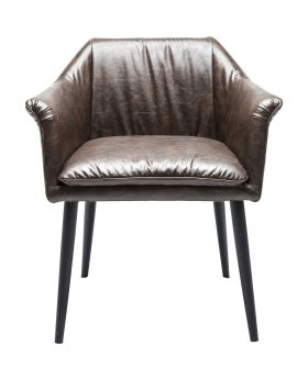 Chair with Armrest  Diner Brown