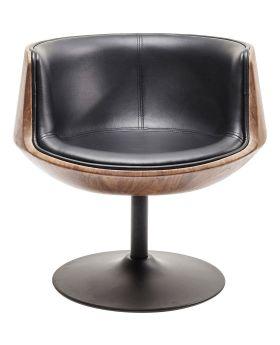 Swivel Armchair Club 54 Walnut