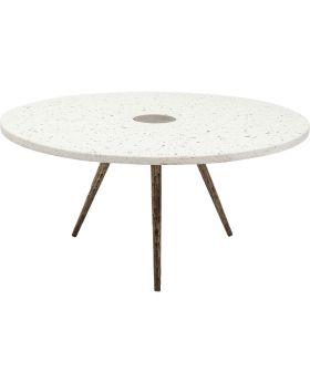 Coffee Table Terrazzo White Ø92cm