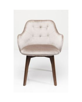 Chair with Armrest Lady Velvet Stitch